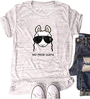 220c248fc4 Haircloud Women Sheep Shirts Animal Graphic Cute Funny Short Sleeve Cotton  Tops (Run 3 Size