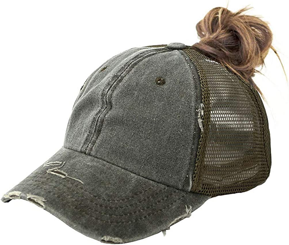 Eohak Distressed Ponytail Hats Baseball for Messy-Bun 5% OFF Women Ranking integrated 1st place Pony