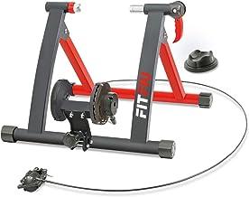 Fitfiu Fitness ROB-10 - Rodillo para bicicleta plegable con resistencia magnética, ciclismo indoor compatible con ruedas de 26 a 29 pulgadas para entrenamiento en casa