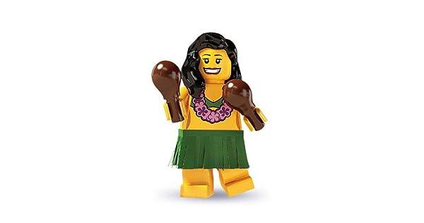 New Lego Minifigure Series 3 8803 Hawaiian Girl Hula Dancer Skirt Open Package