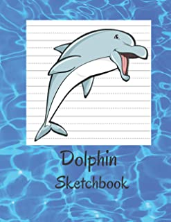 "Dolphin Sketchbook: Fun Novelty (8.5""x11"") Larger Blank Book, Ideal for Drawing, Coloring and Doodling. Sweet Animal High ..."