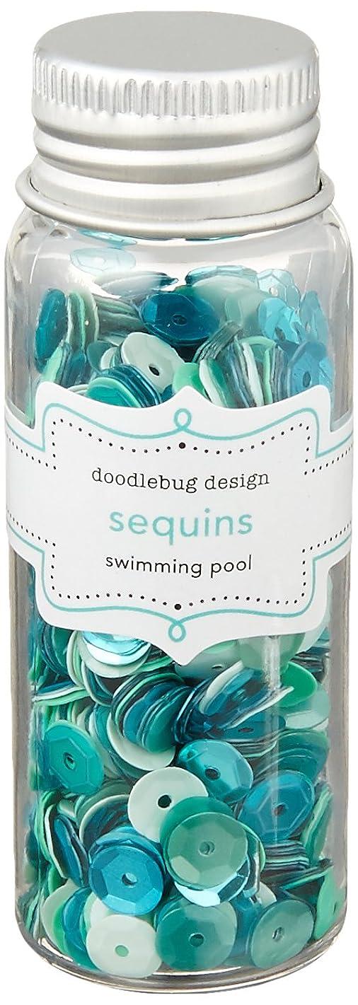 Doodlebug Kraft in Color Assorted Sequins, Swimming Pool