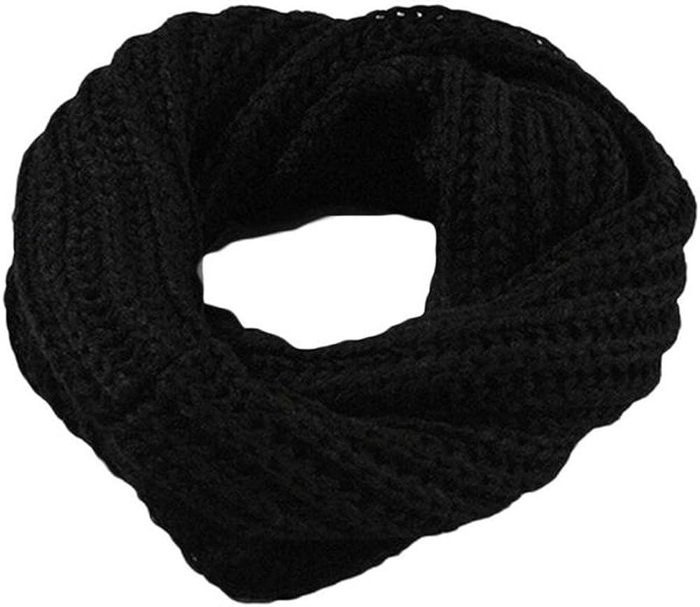 Clearance Scarf for Women&Men,2018 Lastest WUAI Winter Fashion Solid Twist Knit Warm Infinity Circle Scarf