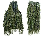 Hybrid Woodland Camouflage Ghillie Hunting Suit Light Weight (WOODLAND GREEN, XL/XXL)