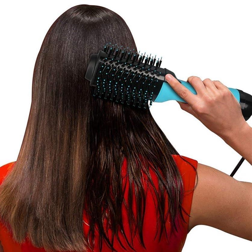 デザート思いやりエチケットZYDP すべての毛のタイプのための小型サイズのドライヤーのストレートナのエアブラシ (色 : 青)