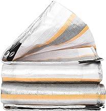 Wang Heavy Duty dekzeil Lichtgewicht plastic dekzeil 100% waterdichte knoopsgat Tuin truck Camping zwembad cover 220g, 0.3...