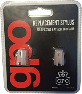 GPO Replacement Needles for Stylo, Stylo II, Soho, Attache, Ambassador, Piccadilly (2-Needle Blister Pack with Installation Instructions)