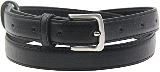 Maikun Womens Belt Skinny Leather Solid Color Pin Buckle Simple Waist for Girls Ladies
