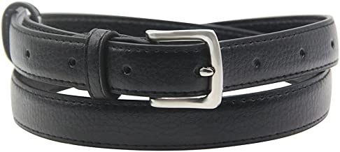 08f2630b4aa5 Womens Belt Skinny Leather Solid Color Pin Buckle Simple Waist for Girls  Ladies