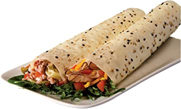 Norigami Non-GMO Gluten-Free Soy Wraps Sesame Seeds (6 Wraps), Low Carbs, High Protein, Vegetarian, Ready To Fill And Serve Wraps, Thin And Healthy Wraps