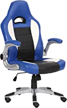 Racoor Video Gaming Chair, Blue and White - 134H x 71W x 71D cm