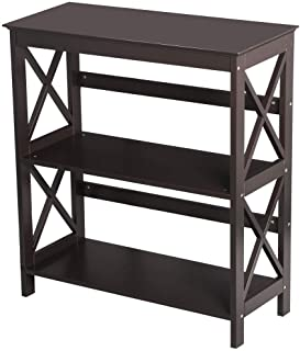 Seleq 3-Tier MDF Double-X-Legs Console Table Bookcase 30
