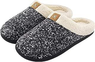 Womens Cozy Memory Foam Slippers Mens Fuzzy Plush Fleece Lined House Shoes
