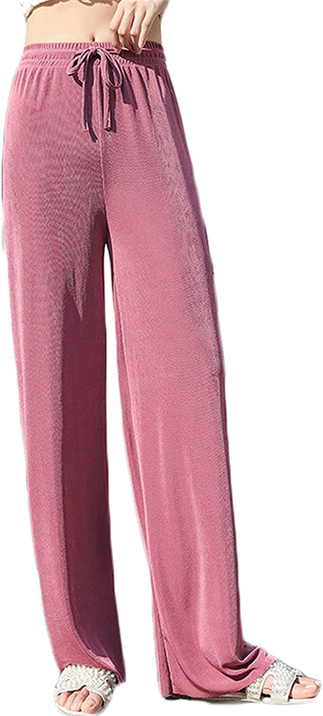 XINYIYI Women?s High Waist Lightweight Pants Comfy Drawstring Workout Pants for Women Straight Trousers