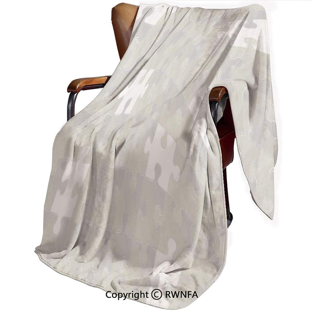 道を作るコンテンポラリー積極的にグレー 印刷者 毛布 シングル ネイビー マイヤー毛布 柔軟軽量発熱 吸湿/静電気防止/洗える オールシーズン 柔らかく肌触り 洗える ライト シンプルな明るい背景で抽象的なパズルパターンみすぼらしいモザイク飾りアイデア子供家の装飾 140cmx200cm グレー