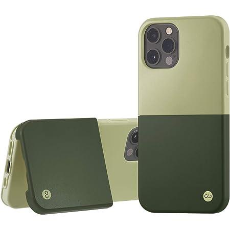 campino iPhone 12 Pro ケース iPhone 12 ケース OLE stand Ⅱ スタンド機能 耐衝撃 レンズ保護 背面 フラット 動画 マット グリーン フロス × アンティーク グリーン 緑