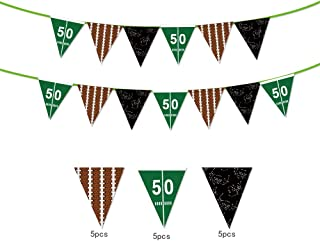 Sport Theme String Flags Banners decoration/American Football Flags,Super Bowl Football Flags,Happy Birthday Party Pennant Banner for Olympics,Bar,Sports Clubs,Festival,Party Events Decorations