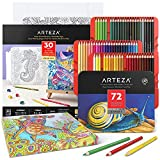 Arteza Colored Pencils and Coloring Book Art...