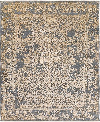 Surya DSR1001-23 Desiree Teppich Traditionell 2' x 3' schiefergrau