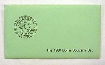 1980 P D S Susan B Anthony Dollar Souvenir Set Uncirculated