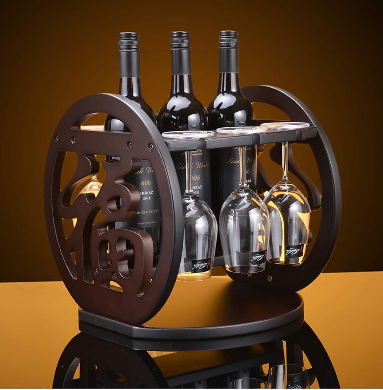 Red Wine Shelf Creative Wine Bottle Holder,Wine Bottle Holder,European Wooden Ornaments Wine Shelf Goblet Rack Wine Cabinet Decorations-A 29x30x36cm(11x12x14inch)