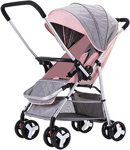 Kinderwagen aus Kohlenstoffstahl für 0-3 Jahre alte Sätzende und liegende leichte Kinderwagen   Sto ste 4 R r   Verstellbarer Sitz   Aufbewahrungskorb