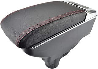 Allestimenti interni Doppio strato in pelle nera bracciolo per Corsa D 2006-2014 centro console Storage box bracciolo