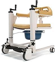 Multifunctionele Verlamde Ouderen Wc Stoel Bad Stoel Shift Machine Rolstoel Draagbare Patiënt Transfer 180 ° Openen en Slu...