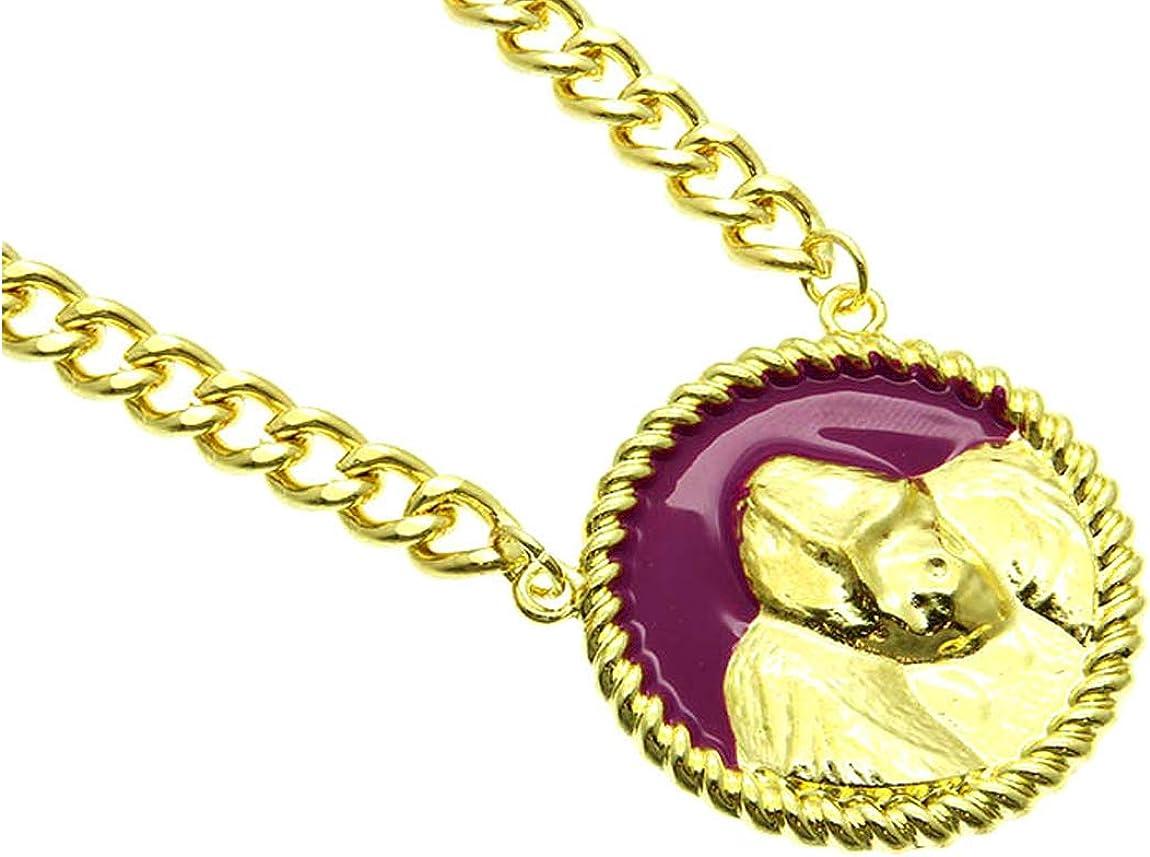 Fashion Jewelry ~ Fuchsia Gorilla Pendant Necklace for Women Teens Girlfriends Birthday Gifts