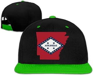 Flag Map Of Arkansas Hip-Hop Snapback Hats One Size Unisex