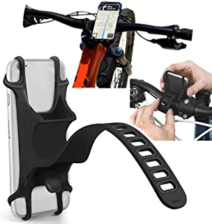 Phone Holder for Bike, Silicone Universal Bike Phone Mount, for Motorcycle Phone Holder Mountain...