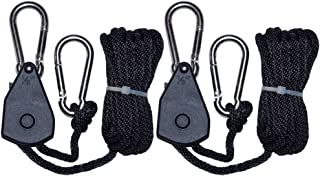 MARS HYDRO 1/8 Inch Heavy Duty Adjustable Rope Hanger Fully Locking for LED Grow Light