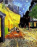 La terraza del café de Van Gogh analiza lienzos y pinturas al óleo de fama mundial en la noche30x40cm