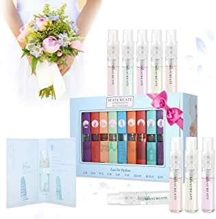 9 Pcs Mini Perfume Gift Set for Women, LuckyFine 9 Scent City Fragrances Kit Spray Perfume for Girls Valentine's Day Gift Set