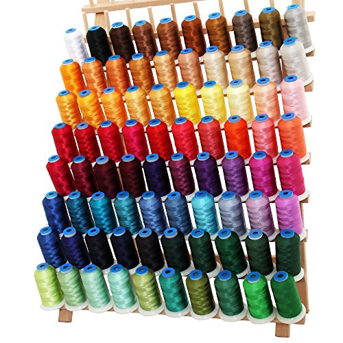 Threadart 80 Cone Rayon Embroidery Thread Set | 1000m cones 40 wt | Includes Black & White | For...