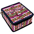 Pink Essential Oil Bottle Carrying Case - 30 Bottles of 5ml, 10ml, or 15ml sizes for Storing & Traveling By Diffusing Essentials - Neon Navajo Aztec Fabric