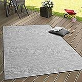 Paco Home In- & Outdoor Flachgewebe Teppich Terrassen Teppiche Mit Farbverlauf In Grau, Grösse:120x160 cm