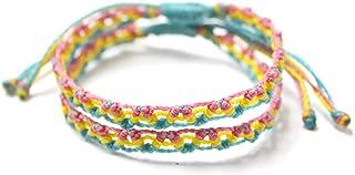 Wakami Friendship Bracelets BFF Gifts | Handmade Love Bracelet Set of 2 | BFF Bracelets for 2, vsco Girl Braided Bracelet,...