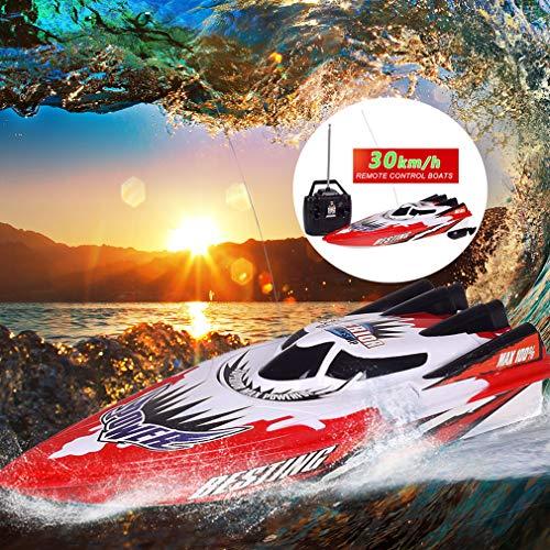MEILINL Barco RC 30 Km/H Speed Boat Juguetes Eléctrico Batería de Larga...