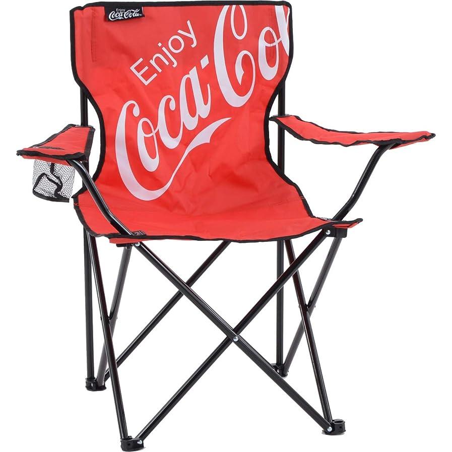 軍気まぐれな予報コカ?コーラ アウトドア アームチェア ビッグロゴ レッド コカ?コーラ公式グッズ