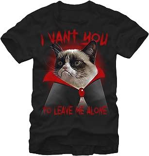 Grumpy Cat Men's Halloween Dracula Vampire T-Shirt