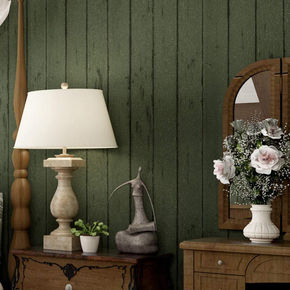 Amazon Co Jp アメリカンヴィンテージ3 Dグリーン壁紙tvの背景 レトロな木製の縞模様の壁紙 寝室の壁画の壁カバー280 Cm W X 180 Cm H Diy 工具 ガーデン
