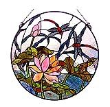 Fine Art Lighting Stained Glass Window Panel, 24-Inch