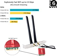Fenvi Dual Band WiFi Card AX200 Desktop Wi-Fi 6 AX Wireless WiFi 6 2x2 MIMO NGFF M.2 2230 WiFi Card only for Mini Desktop 2.4Ghz/5Ghz 160Mhz BT 5.0 2.4Gbps Wi-Fi Miracast vPro with Advanced Heat Sink