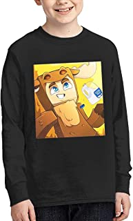 RonaldAMaurer Moosecraft Merch Teenager Youth Long Sleeve T-Shirt Black