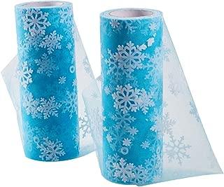 BENECREAT 2 Rolls Fabric Tulle Snowflake Tulle Roll 6