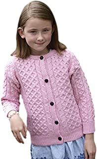 West End Knitwear Kid's Merino Wool Crew Irish Cardigan