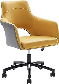Sillas de escritorio de oficina Sillas de oficina de diseño hueco, muebles giratorios para visitantes, silla ergonómica para computadora, oficina con brazos, silla giratoria ajustable para elementos