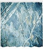123456789 Marmor Duschvorhang Granit Stein Künstlerischer Druck für Badezimmer