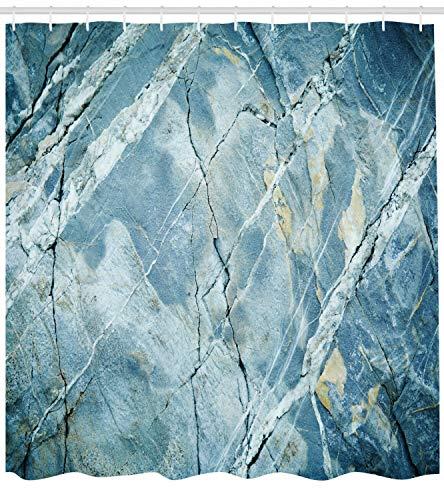 Marmor Duschvorhang Granit Stein Kunst ist geeignet für Bad Wasserdichten Duschvorhang